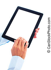 Tablet computer. - New tablet computer. Isolated over white...