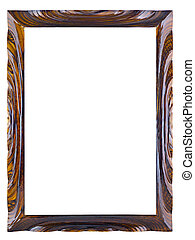 lacquered wooden frame for a picture of an isolated on a...