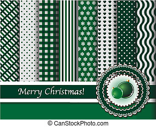 Christmas scrapbooking green bauble - Christmas digital...