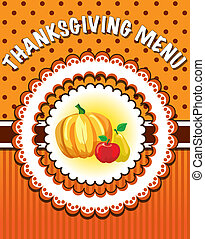 Thanksgiving Menu template - Retro style Thanksgiving Menu...