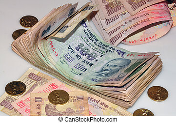 Indian Currency - Indian currency and coins