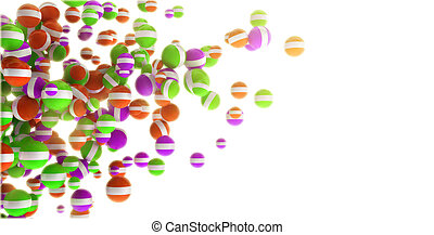 Colored 3d sphere abstraction