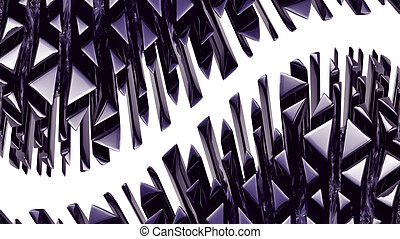 Black 3d abstraction background