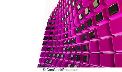 Pink 3d abstraction background