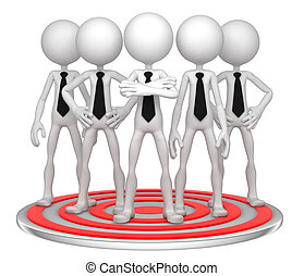 Target Group. Conceptual business illustration. Isolated
