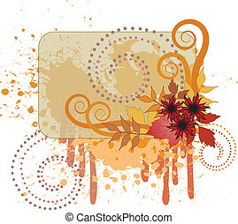 Autumn background with a splash