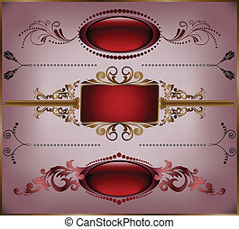 set of burgundy frame