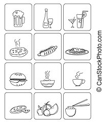 food and drinks - food drinks vector