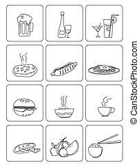 food & drinks vector