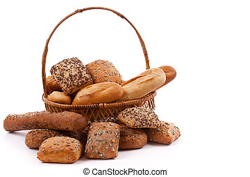 baked goods - Assortment of baked goods in white background...