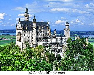 Castle Neuschwanstein, Bavaria - Castle (schloss)...