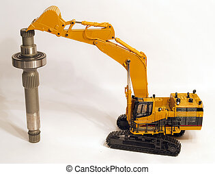 Excavator - Hydraulic Excavator with with a Hydraulic Pump...