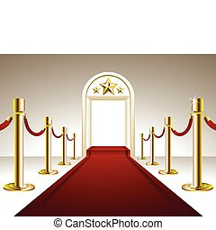 Red Carpet Entrance - Vector illustration representing...
