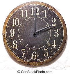 Old Wall Clock - An old wall clock with a rustic looking...
