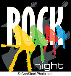 Rock Night Poster Template - Rock night background for...