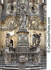 Holy Trinity Column in Olomouc - Details of the Holy Trinity...