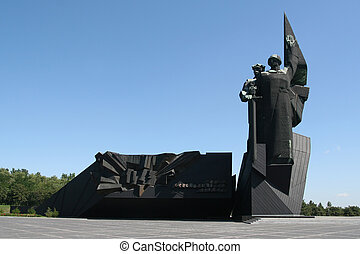 Monument in Donetsk Ukraine - War Memorial Monument to...
