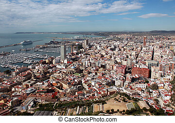 Alicante / Alacant - Overview of the Spanish town of...