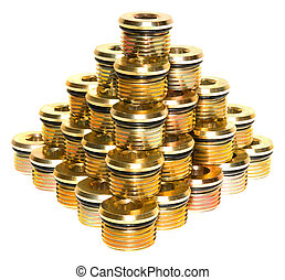 Hydraulic Plugs Pyramid - Multiple Hydraulic Plugs stacked...