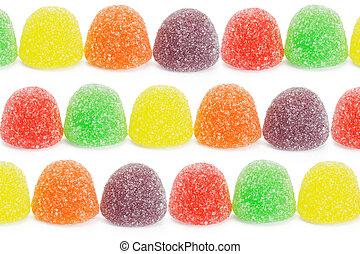 Multicolor, macio, geléia, bala doce