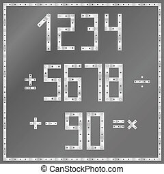 vector metal numbers