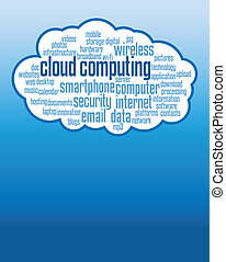 cloud computing concepts background, illustrations with copy...