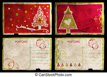 Christmas cards back and front