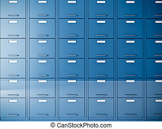 file cabinet - fine 3d image of blue file cabinet