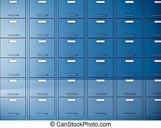 file cabinet - fine 3d image of blue file cabinet