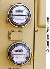 Electric Meter - An Electric Power Meter Reading Energy...