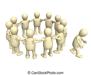 Loser - A person not invited to the group Isolated over...