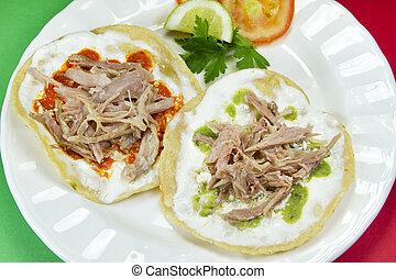 Mexican Pork Tostadas  - Mexican pork tostadas