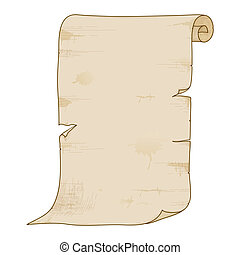Vector old paper roll - Vector illustration of old paper...