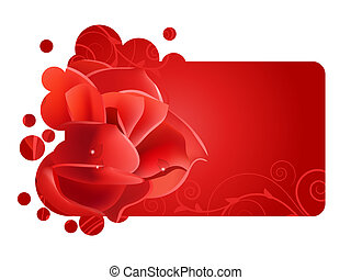 Beautiful red frame with big  rose