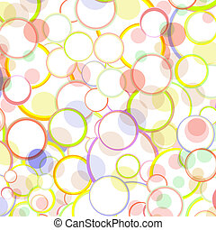 Spring and Summer Bubbles Abstract Vector Background