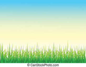 Green Grass Background - A Colourful Vector Illustration of...