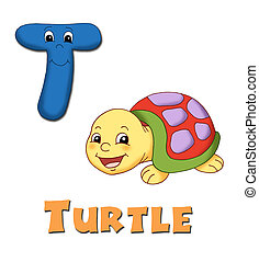 Alphabet, turtle
