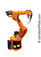 Robot welder - Robotic arm welder isolated included clipping...