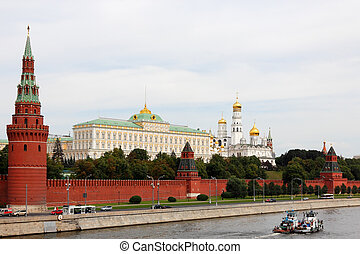 The Kremlin And Tandem - Pair of tugboats going down by...