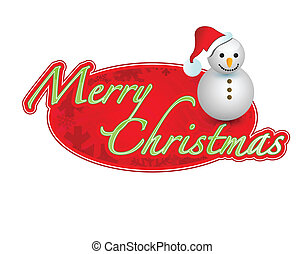 merry christmas sign illustration design