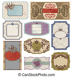 set of vintage labels - set of retro vintage labels vector...