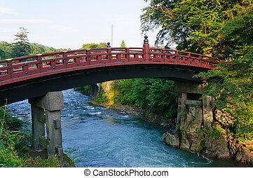 Nikko, Japan - Shinkyo bridge in Nikko, Japan One of the...