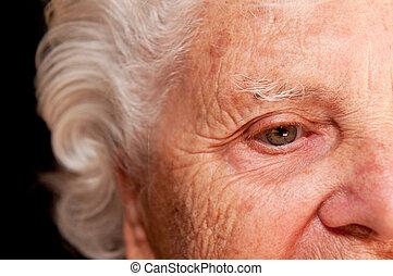 Portrait of a Senior Woman - Portrait of a senior woman on a...