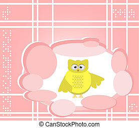 owl cute Cartoon bird greeting card