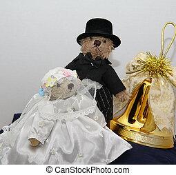 osos, nupcial, navidad