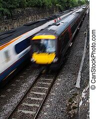 speeding trains