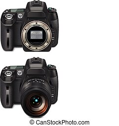 Vector SLR cameras XXL icon - Detailed icon representing...