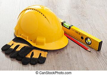 Carpenter equipment - Set of carpenter equipment tools for...