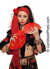 Portrait of sensual gypsy woman