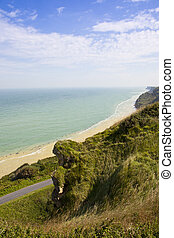 View at d-day beach, Normandy, France